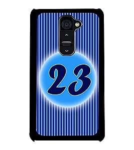 Fuson 2D Printed Numerology Designer back case cover for LG G2 - D4243