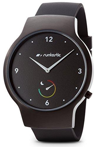 Runtastic Moment Basic Orologio con Monitoraggio Sonno e Attività Fisica, Passi/Distanza/Calorie, Nero