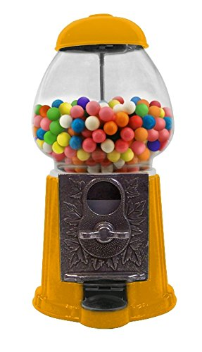 9 Inch Gumball Machine Dispenser - Die Cast Antique Style - Orange Color (Small Gumballs For Candy Machine compare prices)