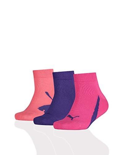 PUMA 3tlg. Set Socken Combo blau/gelb/grün