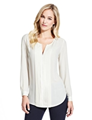 M&S Collection Pleated Blouse