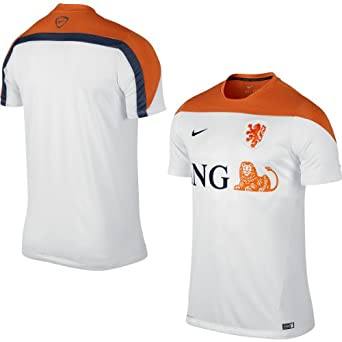 Holland Training Jersey 2014 2015 - White Orange by Nike