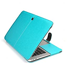 MacBook Pro 13 Case Leather, Balee Premium Quality PU Leather Folio Case Book Cover with Magnetic Closure for MacBook Pro 13\
