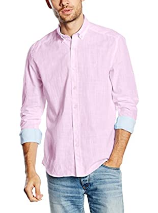 Polo Club Camisa Hombre Gentle Linen Sport (Rosa)
