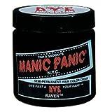 MANIC PANIC Semi-Permanent Hair Color Cream Raven 4 Oz(No: HCR 11007)