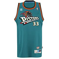 Grant Hill Detroit Pistons Adidas NBA Throwback Swingman Jersey - Teal by adidas