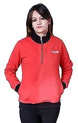 Auburn Women's Fleece Sweatshirt (AUF5904-CORAL-L, Coral, 38)