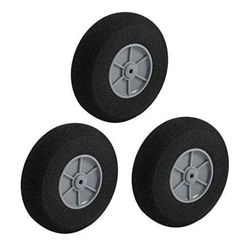 3pcs RC Model Airplane Aircraft Landing Sponge Wheel D70mm H20mm d3mm