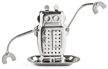 海淘amazon凑单:Kikkerland 机器人不锈钢茶叶过滤网