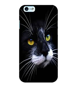 ColourCraft Cat Face Design Back Case Cover for APPLE IPHONE 6