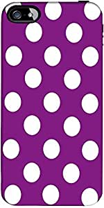 Snoogg Purple Polka Dot Designer Protective Back Case Cover Forapple Iphone 5...