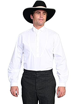 Edwardian Men's Formal Wear Wing Tip Collar Long Sleeve Shirt  AT vintagedancer.com