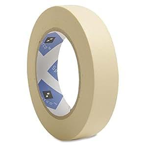 Economy Masking Tape, 3-Inch Core, 1-Inch x 60 Yards, Natural Kraft