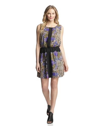 W118 by Walter Baker Women's Hugo Printed Sleeveless Dress  [Floral Leopard]