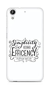 Amez Simplicity is the best form of Efficency Back Cover For HTC Desire 626 G Plus