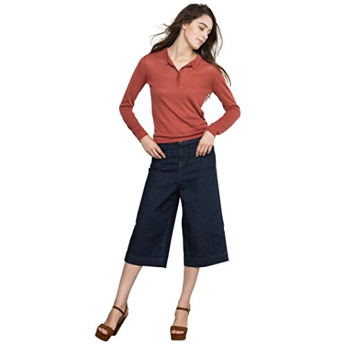 Pepe Jeans Donna Bermuda Larghi Wendy In Denim Taglia 26 Blu