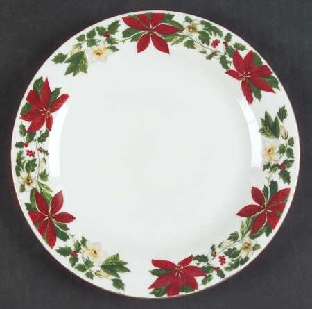 Poinsettia Dinner Plates Christmas Wikii