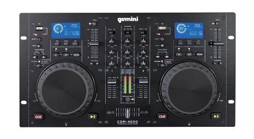 Gemini CDM-4000 Cd/Mp3 Usb 2Ch +-12% (doppio CDplayer + mixer per DJ)