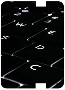 Laptop Keyboard Keys White Back Cover Case for Amazon Kindle Fire 7 HD