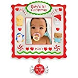 Babys First Christmas Photo Holder 2010 Hallmark Ornament
