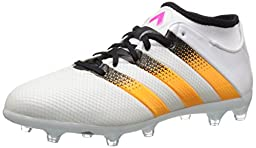 adidas Performance Women\'s Ace 16.2 Primemesh FG/AG Soccer Shoe,White/Gold/Shock Pink,5 M US