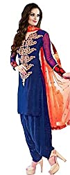 Style Amaze Women Georgette Blue Dress Material