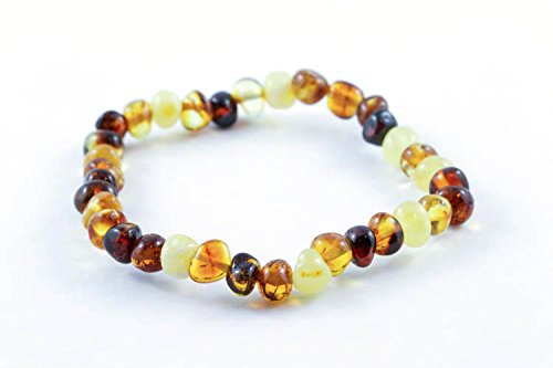 Healing Hazel 100% Balticamber Adult Bracelet, Multi Polished
