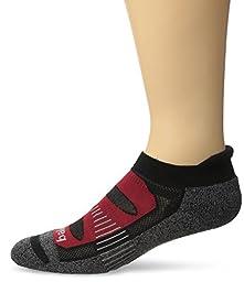 Balega Blister Resist No Show Socks, Black/Red, X-Large