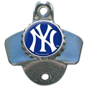 major league baseball new york yankees wall mount bottle opener kitchen dining. Black Bedroom Furniture Sets. Home Design Ideas