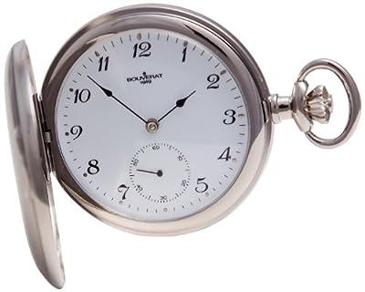 Bouverat 1919 Pocket Watch BV822212 Rhodium Plated Full Hunter