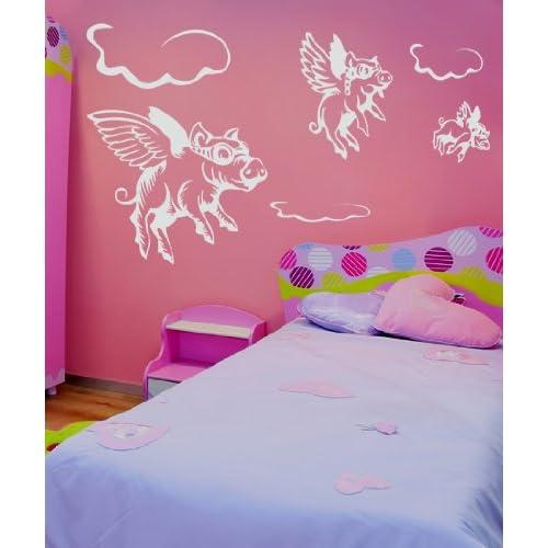 Vinyl Wall Decal Sticker When Pigs Fly GFoster130