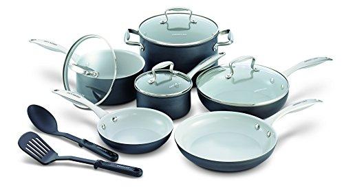 GreenLife Classic Gourmet Pro 12pc Ceramic Non-Stick Cookware Set