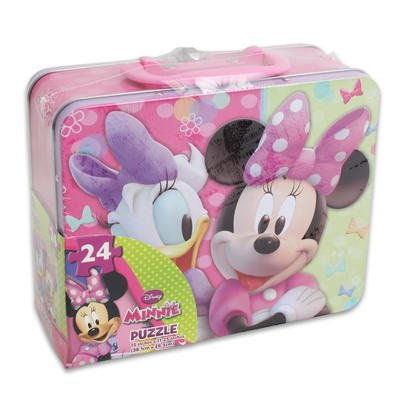 Cardinal Games Minnie Mouse tin with Handle 24 pc - 1 per pack