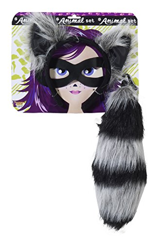 Forum Novelties Women's Playful Animals Raccoon Costume Accessory Set, Multi, One size