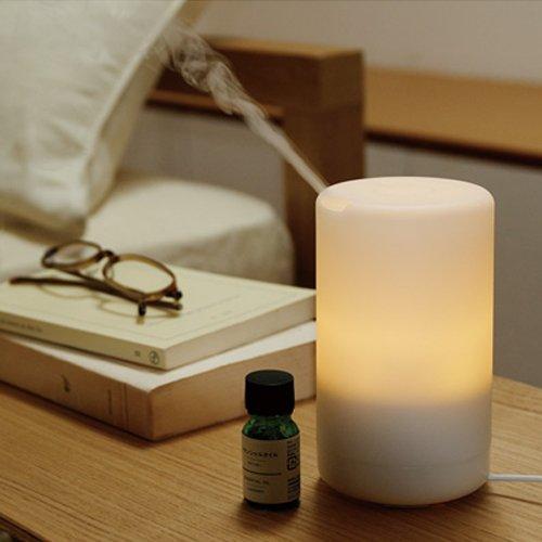 Arrela Small Essential Oil Diffuser, 70ml USB Mini Aromatherapy Diffuser Ultrasonic Aroma Humidifier with Warm White LED light