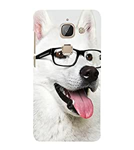Dog with Reading Glasses 3D Hard Polycarbonate Designer Back Case Cover for LeEco Le 2s :: Letv 2S :: Letv 2