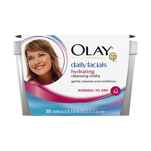 Olay Daily Facials Cleansing Cloths, Normal/Dry Skin, 30 Count