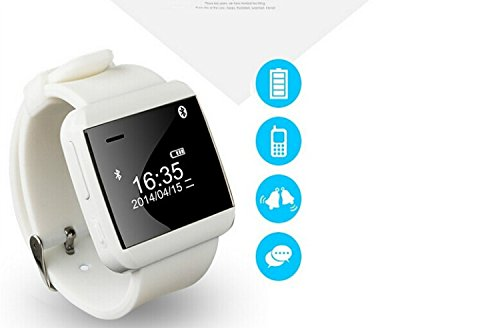 Carry360 Waterproof Led Display U-Watch 3S Bluetooth Smart Dial Wrist Timer Clock Phone Mate(White)