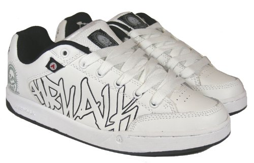 New Older Boys White Black AIRWALK Brand Laces Boy Skater Shoe Trainers Size 5 6