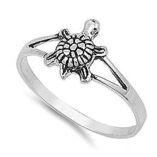 buy Sterling Silver Elegant Women'S Turtle Ring (Sizes 2-12) (Ring Size 6)