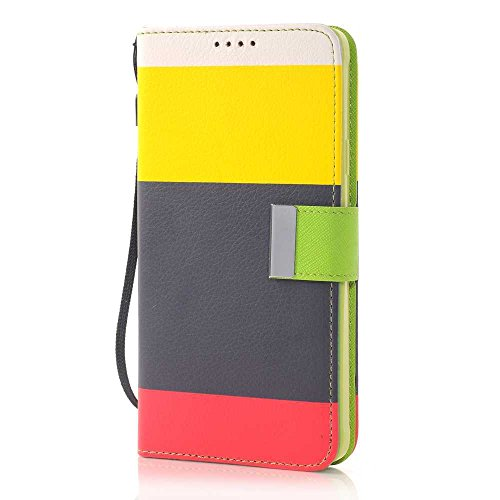 Nancy'S Shop Stand Case For Samsung Galaxy Note 4 Deego Colorful Wallet Pu Leather Credit Card Holder Pouch Case Cover For Samsung Galaxy Note 4 Iv (Colorful Wallet Case Yellow/Brown/Red)