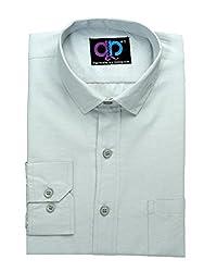 Koolpals Men's Cotton Formal Shirt (KPMS_FD03_38LG_Green _38)