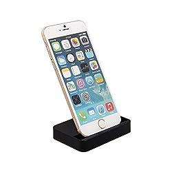 AmaziPro8 iPhone Charger Docking Station, Cradle Charging Sync Dock Station for Apple iPhone 6 Plus 6 5 5S 5C (Black)