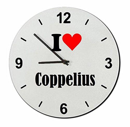"""Regali Esclusivi: Orologi da parete """"I Love Coppelius"""", un Grande regalo viene dal Cuore - Ti amo - Orologio vetro - Punte di Natale"""
