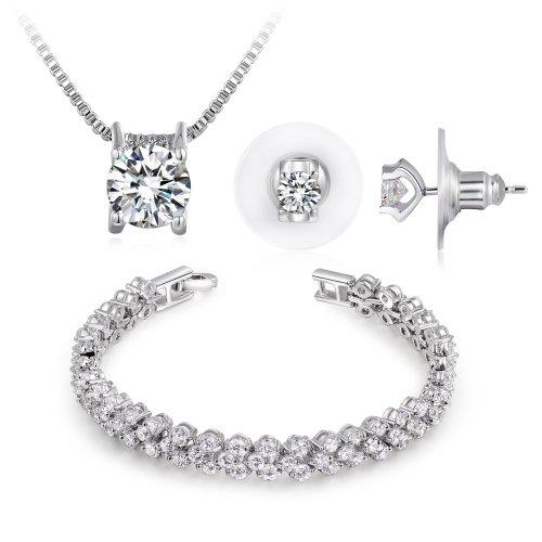NinaboxR Frozen Sets AAA Grade Swarovski Elements Zircons Fashion Wedding Jewelry Sets T000145