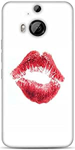 Snoogg Red Lips Kiss Designer Protective Back Case Cover For HTC M9 Plus