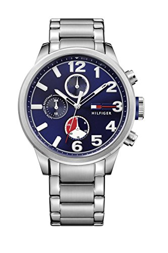 tommy-hilfiger-jackson-mens-quartz-watch-with-blue-dial-analogue-display-and-silver-stainless-steel-