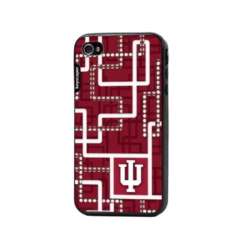 Indiana Hoosiers Iphone 4/4S Bumper Case Pipes Ncaa