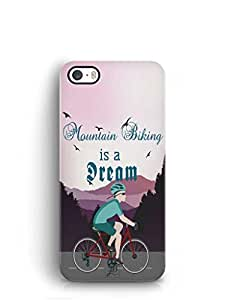 YuBingo Mountain Biking is a Dream Mobile Case Back Cover for Apple iPhone 5S
