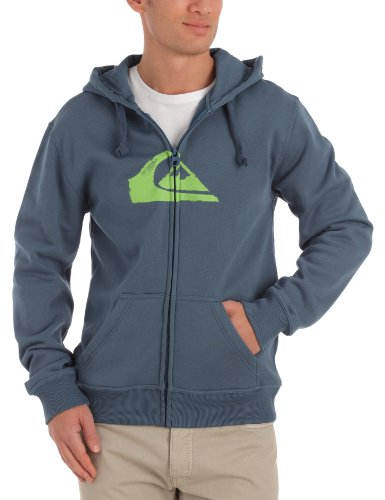Quiksilver Hood Zip Logo Men's Sweatshirt Indian Teal Medium